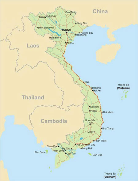 Vietnam Travel Destinations Vietnam Places To Visit Vietnam Map
